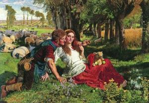 William Holman Hunt, Ücretle Tutulmuş Çoban