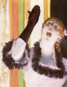 Edgar Degas, Eldivenli Şarkıcı