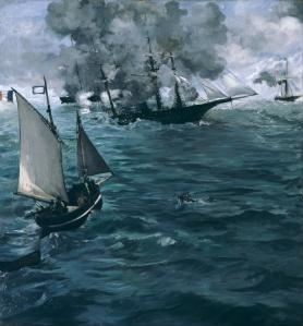 Edouard Manet, U.S.S. Kearsarge vs. C.S.S. Alabama