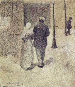 Charles Angrand, Sokaktaki Çift