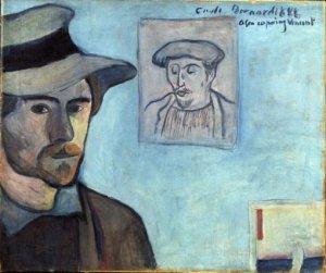 Emile Bernard, Gauguin ile Birlikte Otoportre