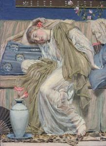 Albert Moore, Uyuyan Bir Kız